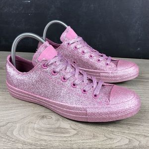 Converse All Star Low Pink Glitter Sneakers